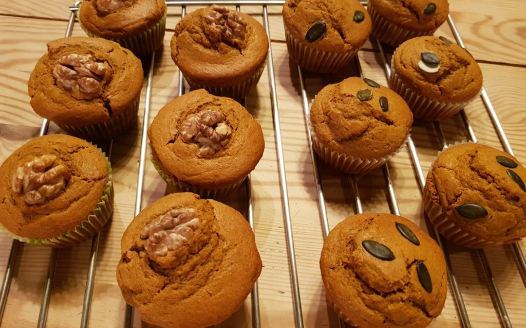Muffins vegi à la courge et aux épices